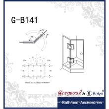 China proveedor pared-vidrio bisagra soporte para puerta de la ducha