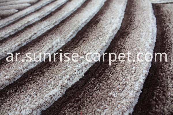 Microfiber Shaggy Rug with Brown & Beige Color