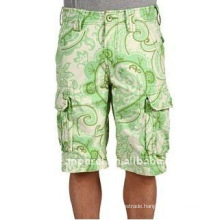 2013 Fashion cheap printed men cargo shorts
