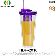 Double Wall Plastic Tumbler with Infuser Inside
