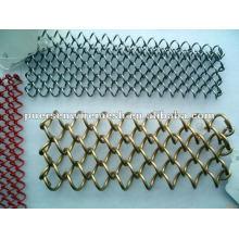 Valla de enlace de cadena galvanizada y PVC