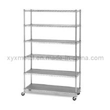 6 Tiers Chrome Plated Metal Wire Shelving