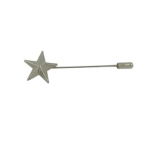 Customized Star Shaped Decorative Long Metal Brooch Pin for Clothing