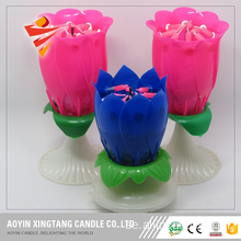 Eco-friendly Plastic Flower Birthday Flower Candle
