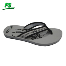 white printed brazil flip flops for men