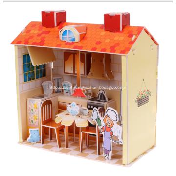 Quebra-cabeça 3D cozinha doce