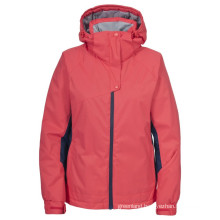 Custom lastest hooded padded woman ski jacket