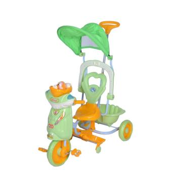Economic Plastic Children Tricycle with Sunshade