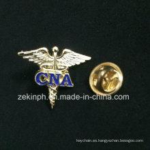 Logotipo personalizado Wing Metal Pin Badge