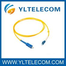 Cordón de remiendo personalizado a dos caras de la fibra SC / del LC SM 2.0mm LSZH
