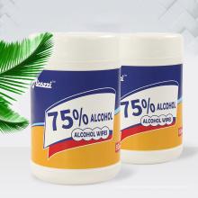Toallitas húmedas desechables con alcohol de tela no tejida