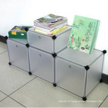 Armoires de rangement en plastique DIY disponibles à 3 couleurs (ZH0012)