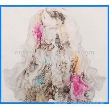 Печать женщин атласные платки платье