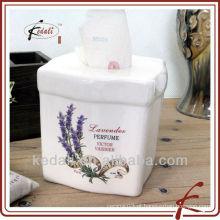 Cubo de cerâmica caixa de tecido