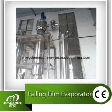 Évaporateur de film à chutes d'un seul effet de jus