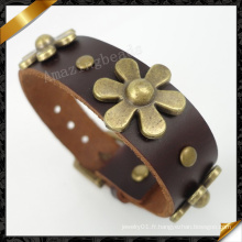 Vente en gros de la Chine en vrac Bracelet homme en cuir Bracelet en cuir (FB098)