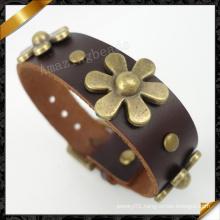 China Wholesale New Fashion Man Bracelet Mens Leather Bracelet (FB098)