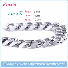 christmas 2015 men bracelet metal blanks jewelry magnetic clasp bracelet