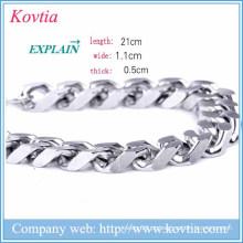 Natal 2015 homens pulseira de metal em branco jóias magnética pulseira clasp