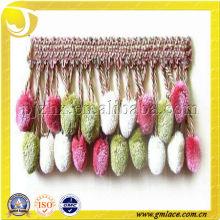 Bola de felpa para franja de borla de cortina con colores