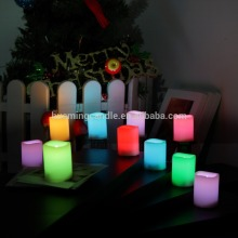 LED color changing candles with 18 keys flameless remote control