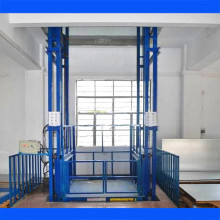 Warehouse Vertical Material Lift Platform/ Guide Rail Cargo Lift