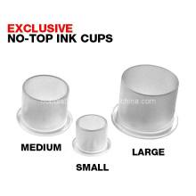 Tazas de la tinta del tatuaje plástico con Base