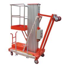 10m single personal hydraulic aluminum mast aerial lift