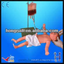 ISO avanzado modelo de venipuntura de cuerpo entero infantil, maniquí de entrenamiento de enfermería