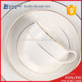bone china super slim dinner set luxury cafe plate set