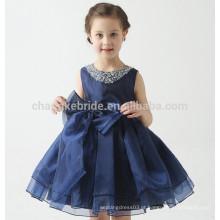 2016 Vestido novo da menina da chegada Vestido de bola Scoop Appliqued Vestido das mulheres da flor da desfivinhação de Glitz para crianças