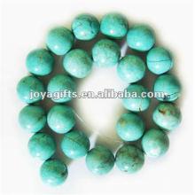 18MM redondo turquesa semipreciosa perlas de piedra