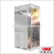 Shiny 350gsm Kosmetikverpackung Karton mit Hologramm Farbe