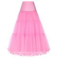 Grace Karin Mujeres Retro Crinolina rosa enagua Enagua para el vestido de la vendimia CL010421-5