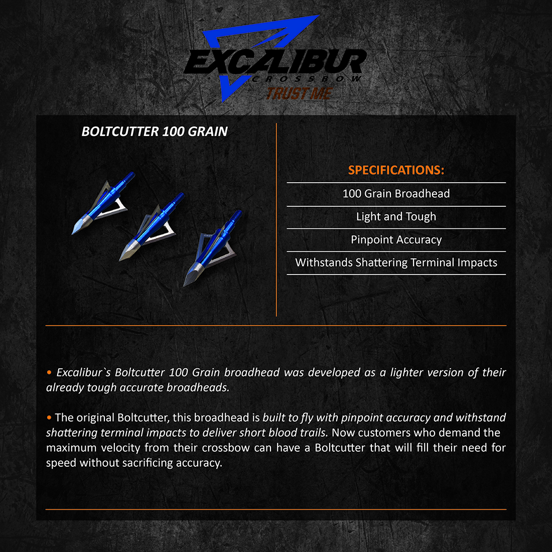 Excalibur_BoltCutter_100Grain_Product_Description