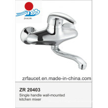 Single Handle Wall-Mounted Kitchen Mixer Faucet