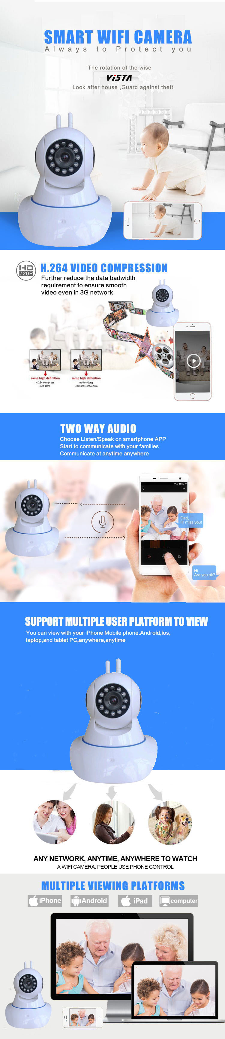 2 way talk ip camera