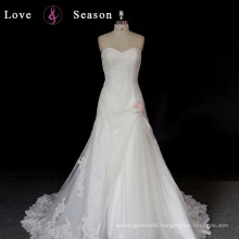 XW6603 deep sweetheart neckline designer beaded fashion bridal wear dress latest design simple wedding gowns