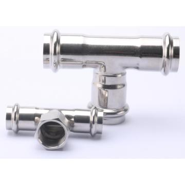 Acero inoxidable Tee SUS Pipe Press Fitting