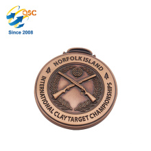 Antike Gold 3D Zink Legierung benutzerdefinierte Metall Anhänger Großhandel Juwel Medaille