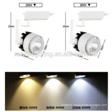 Commercial COB 20w 30w aluminum led track lights for shop Jewelry stores