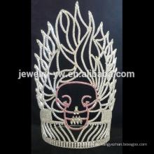 Großhandel kundenspezifische Logo Krone Rhinestone Festzug Tiara für Frauen