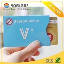 Novo design titular do cartão impermeável cartão manga com papel