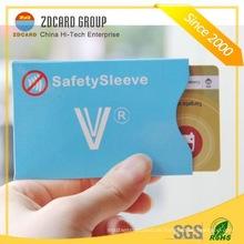Anti Reißpapier RFID Blocking Sleeve Card Halter