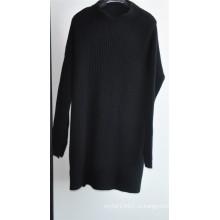 Зимний чистый цвет вязать Puullover свитер для дам