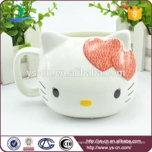 Оптовая Красный Hello Kitty Creative керамические чашки