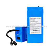 OEM 12V 9800mAh lithium-ion battery pack with 12V Li-ion charger, for CCTV camera
