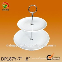 White round ceramic wholesale cake stands