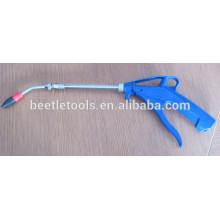 arma de sopro plástica ar ar comprimido azul com bocal