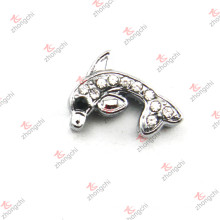 10mm Crystal Dolphin Slide Charm for Bracelet (JP10)
